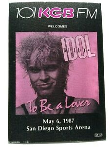 Billy Idol Backstage Pass Original 1987 To Be A Lover Concert Tour New Wave Pop