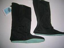 Go Go Golosh, size M, 6.5 to 8, NWT, black nylon, over the shoe rain boots