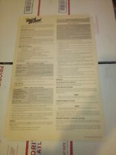 atari hard drivin arcade cabinet instructions paper