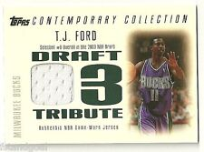 TJ FORD 2003-04 TOPPS CONTEMPORY COLLECTION DRAFT TRIBUTE JERSEY RC 130/250