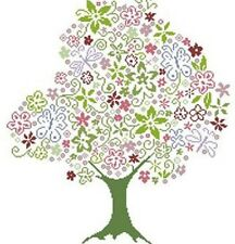 Alessandra Adelaide Needleworks HAPPY TREE Counted Cross Stitch Pattern FLOWERS