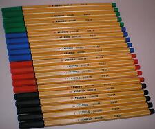 20 Stabilo Point 88 Fineliner schwarz blau grün rot Filzstift Filzschreiber Fein