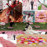 1000Pcs Fake Silk Rose Flower Petals Wedding Party Table Confetti Home Decor HF