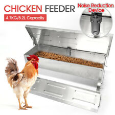 8.2L Automatic Chicken Food Feeder Treadle Self Opening Feed Galvanized AUStock