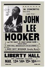 Texas Blues Master: John Lee Hooker at Liberty Theatre Concert Poster 1975