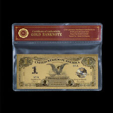 WR 1899 Black Eagle $1 Silver Certificate US Bill Colored Gold Banknote Collect