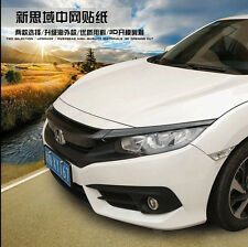 Front Grill Grille Carbon Fiber Sticker For 10th Gen Honda Civic