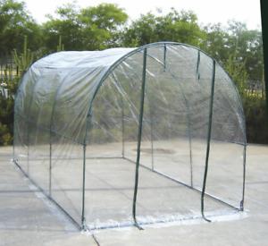 VERDELOOK Serra orto a tunnel con telo trasparente in PVC, 200x300x180 cm piante