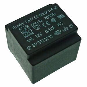 120V/12V AC 0.5VA Transformer 120VAC/12V AC Encapsulated Mains