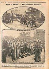 Prisoners Feldgrauen Deutsches Heer & Poilus Bataille de la Marne WWI 1915