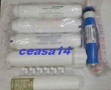 For Aquaguard Reviva RO Purifier Filter Kit+75 GPD DOW Membrane+Kemflo Spun