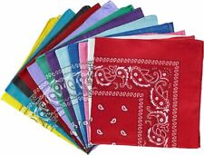 Bandana Paisley Print 100% Cotton Double-Sided Scarf Head Wrap Neck Headband