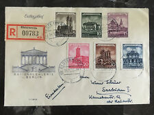 1955 Elsterwerda East Germany DDR First Day Cover FDC to Saar # 265-270