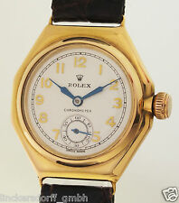 Rolex OYSTER canale GALLEGGIANTE Orologio Uomo ct ref. 2136 in 375 oro di 1930