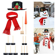14pcs Snowman Kit Winter Holiday Outdoor Toys Christmas Gift Snowman Dress Up