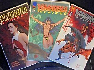 Vampirella :STRIKES Mature comics Vol 1 #1, #2,  #7 silver anniversary 1st print