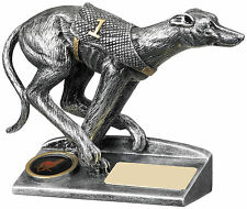 """5"""" metallic resin 3D Greyhound Trophy (RRP £10.99) with engraving and postage"""