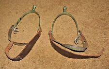 VINTAGE ELITE NON-RUST English Spurs W/ Buckles Made in England NEVER RUST