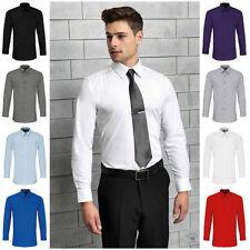 Men's Machine Washable Cotton Blend Single Cuff Formal Shirts