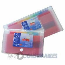 Exacompta Crystal Pocket Expanding File Multiple Compartments Choice Of 2 Sizes
