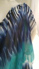 "Yard blue navy white black Chiffon Fabric 58"" Us Shipper"