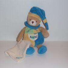 Doudou Ours Babynat Baby Nat' -  Bleu Jaune les Bonbons