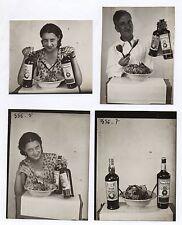 PHOTO Publicité Pub Advertising Vinaigre Huile de table des Bénédictins 1950