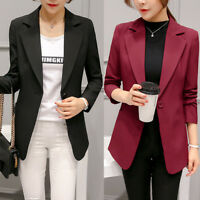 New Fashion Women Ladies Suit Coat Blazer Business Long Sleeve Jacket Outwear