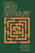 Handbook of Applied Cryptography by Scott A. Vanstone, Paul C. van Oorschot, Alfred John Menezes (Hardback, 1996)