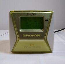SONY Green DREAM Machine LIV FM/AM Alarm CLOCK Radio ICF-C143 Tested Vintage