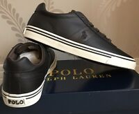 BNIB MENS POLO RALPH LAUREN HANFORD LEATHER SHOES/TRAINERS/SNEAKERS SIZE UK 9