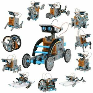 Discovery Kids Solar Robot Mindblown STEM 12-in-1 Creation 190-Piece Kit
