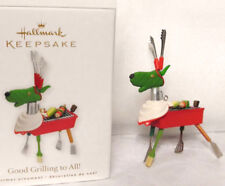 Hallmark 2010 Good Grilling to All Reindeer Barbecue grill Deer Ornament New