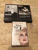 Madonna Lot of 3 Cassettes Like A Virgin Madonna Who's That Girl Soundtrack Pop