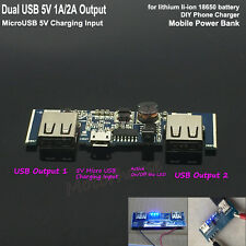 5V 2A Dual USB 3.7V Lithium Li-ion 18650 Battery Charger Module Charging Board