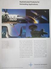 2/1992 PUB DEUTSCHE AEROSPACE DORNIER 328 COLUMBUS SPACE STATION ROLAND AD