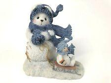 Enesco Cherished Teddies Brrrrrrrr 2001 Snowbear Pulling Sled Winter Christmas