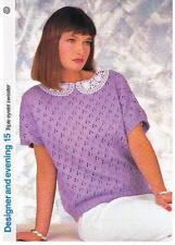 Triple Œillet Sweater Knitting Pattern-Marshall Cavendish brochure DE15