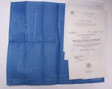 1930 Lamson Goodnow Scraper BLUEPRINT Treasury Dept Washington DC Ephemera P425A