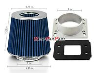 For 86-89 Toyota Celica Camry 2.0 Air Intake Adapter +BLUE Filter