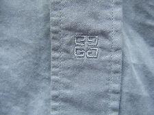 Givenchy Gris Mangas Cortas Camisa Tamaño 41 L Grande