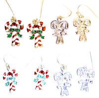Festive candy cane / apple earrings, multiple choices, Christmas gear, Xmas
