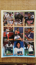 LEGENDS SPORTS MAGAZINE UNCUT 9 PLAYER SHEET FOIL CARDS George Brett