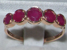 Rose Gold Ruby Ring Vintage Fine Jewellery