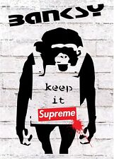 Supreme Poster Banksy Wall Art Singe Keep It Real Large A1 Rare Hype