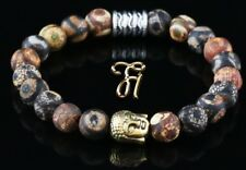 Tibet Agate Bracelet Pearl Bracelet Buddha Head Gold 0 5/16in