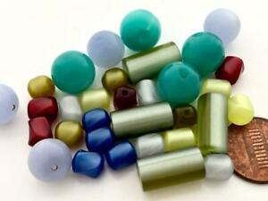 Vintage Lucite Moonglow Beads Mix 32
