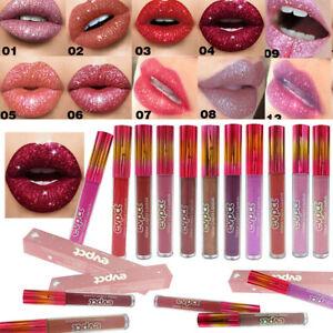 Sexy Metallic Matte Glitter Liquid Lipstick Long Lasting High Shine Lip Gloss