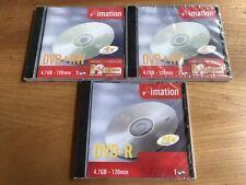 3 x Imation DVD+RW blank DVD disk 4.7GB, 4x, 120min New SEALED, Quanitity three