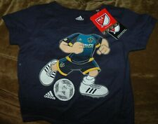 Los Angeles Galaxy soccer shirt YOUTH 2T NEW with tags Adidas MLS blue
